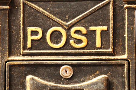 Antiker Briefkasten Icon für Kontaktaufnahme zu Scholz Personal Personalvermittlung Heilbronn