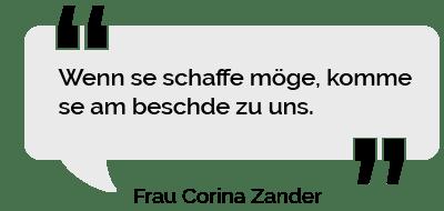 Personalvermittlung Heilbronn, Zitat Frau Zander: Wenn se schaffe möge, komme se am beschde zu uns.